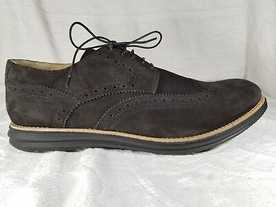 79821afd908d Bugatchi Dark Brown Suede Leather Lace Up Oxfords Wingtip Men s Shoe Size  13 EUC