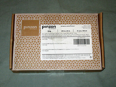 Pinzon 400-Thread-Count Egyptian Cotton Sateen Hemstitch Pillowcases 2PK - King