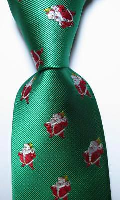New Classic christmas style Green Red JACQUARD WOVEN Silk Men's Tie Necktie