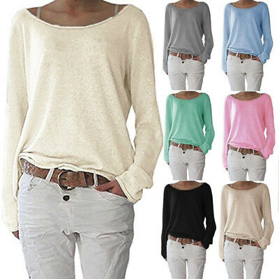 Women Spring Shirt Long Sleeve T-Shirt Blouse Loose Top Solid Bottoming S-3XL