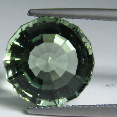 8.70Cts Outstanding Natural Green Amethyst(Prasiolite) 13mm Round Custom Cut Gem