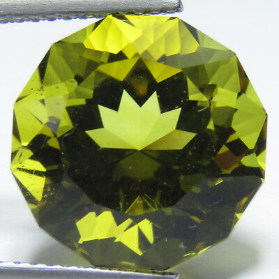 9.90Cts Natural Gorgeous Lemon Quartz 13.6mm Round Custom Cut Loose Gemstone