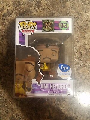Funko Pop! Rocks Music Jimi Hendrix (Burning Guitar) #53 FYE With Pop Protector