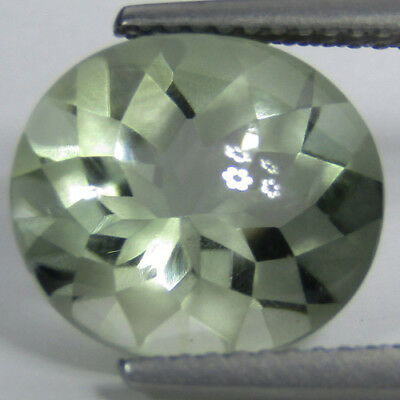 5.50Cts Natural Green Amethyst(Prasiolite) Oval Buff Top Missing Cut Gemstone