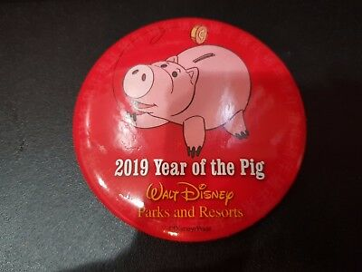 Disney Parks Souvenir Button 2019 Year of the Pig