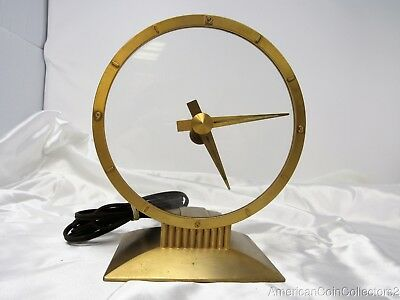 Vintage Jefferson Golden Hour Electric Mystery Clock Works Inaccurate | 13586