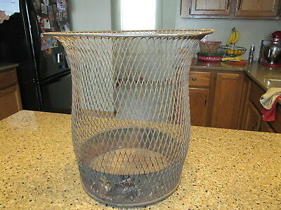 Antique Nemco Wire Mesh Trash Can North Western Expanded Metal Co.
