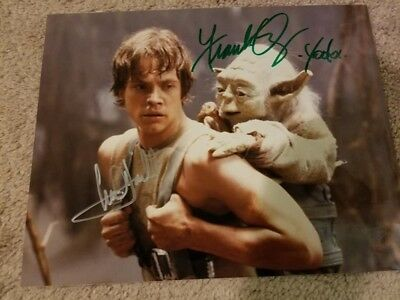 Star Wars Photo Signed-Autographed by Mark Hamill/Frank Oz