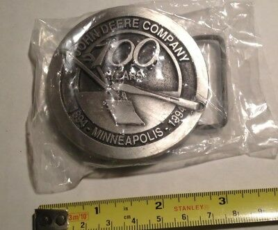 John Deere Company Minneapolis Branch 100th Anniversary Belt Buckle dated 1994
