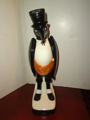 "ALL ORIGINAL ROYAL DOULTON OLD CROW DECANTER 13"" VINTAGE ADVERTISING 1960 Empty"