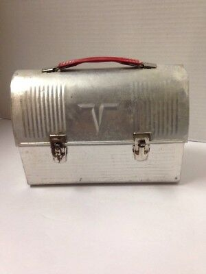 Vintage 1950's Thermos V Victory Aluminum Workman Lunch Box