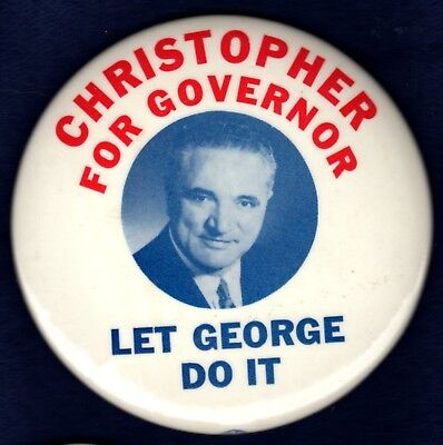 George Christopher Last Gop San Fran Calif Mayor Governor Greek Pinback Button