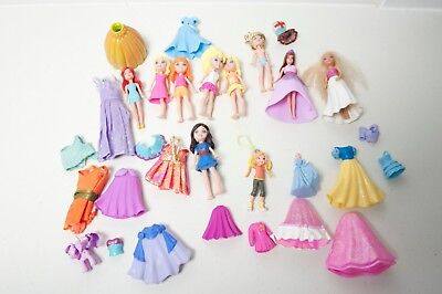 loads of Polly Pocket Princess Dolls with Snow White dress AUS POST!