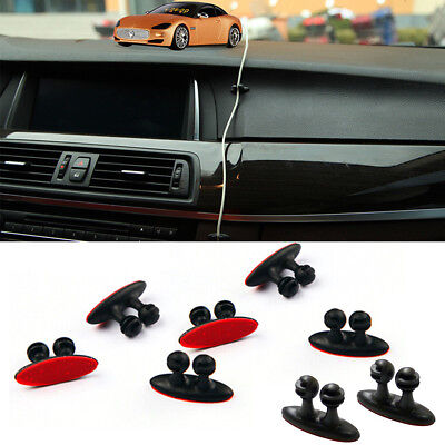 8Pcs Adhesive Clamp Home Car Wire Cord Clip Headphone USB Cable Holder Organizer