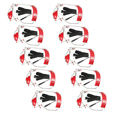 10 X Dental Orthodontic Adjustable Reverse-Pull Headgear Red Color New