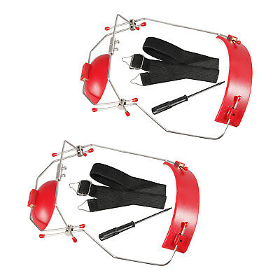 2 X Dental Orthodontic Adjustable Reverse-Pull Headgear Red Color