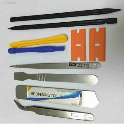 55A9 Repair Opening Pry Tools 10 in 1 Phone Plastic Screwdrivers Set Blade Kit