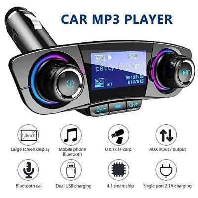 Bluetooth Handsfree Car Kit FM Transmitter Modulator Aux Audio USB Music Player