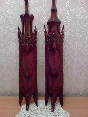 Two vintage Carved Wooden Masks. From Bali