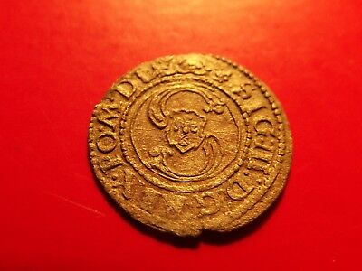 Poland LITHUANIA Solidus 1624 SIGISMUND III medieval silver coin Schilling Super