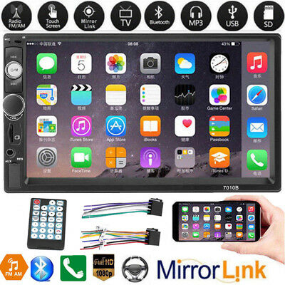7'' 2DIN Touch Car Stereo Radio MP5 MP3 Player Head Unit Bluetooth Mirror Link