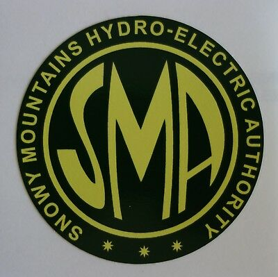 Snowy Mountains Hydro Electric Authority Sticker