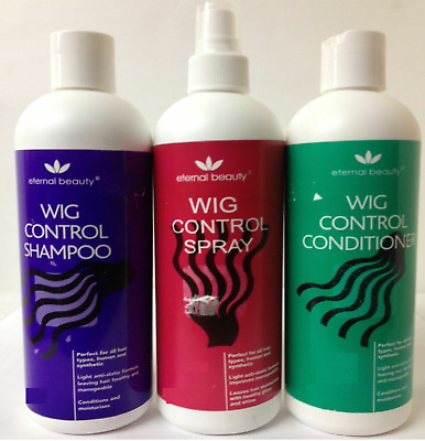 Wig Control Shampoo, Conditioner and Spray for Human And Synthetic Wig 400 ML UK