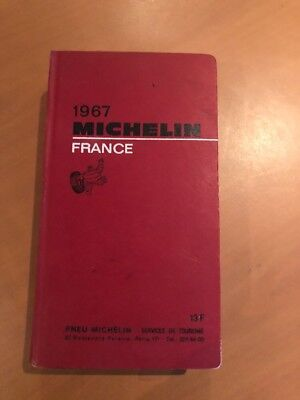 guide michelin rouge France 1967