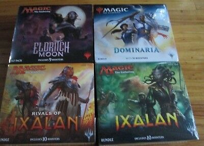 5 MTG FAT PACK  Dominaria, ELDRITCH MOON, IXALAN, RIVALS OF IXALAN, KOT Tarkir