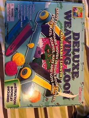 RARE DELUXE WEAVING LOOM SET Activity For Kids From Woolworths