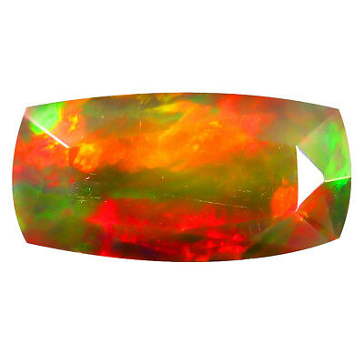 2.84 ct BLACK WITH MULTICOLOR FIRE COLOR UNDER DIFFERENT LIGHT