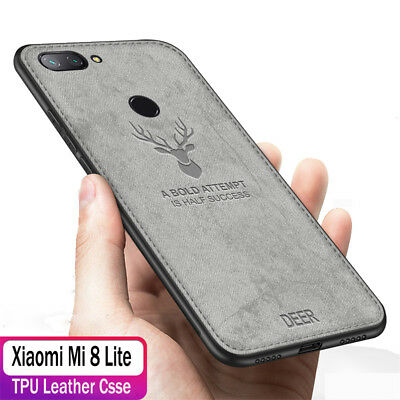 For Xiaomi Mi 8 Pro A2 Lite Mix 3 F1 Case Slim Cloth Silicone Matte Back Cover