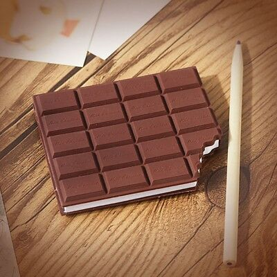 Creative Chocolate Notebook Memo Pad DIY Cover Notepad Stationery School Gift