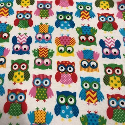 100/% Cotton Winceyette Fabric Material Printed Llama and Cactus Blue 112cm