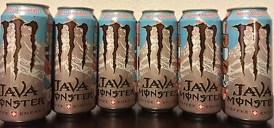 Monster Energy Drink  Java Swiss Chocolate 15oz  -6 Full Cans