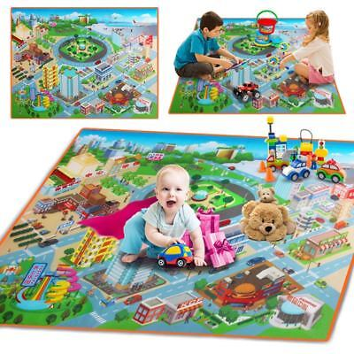 Children Kids Baby Crawling Blanket Carpet Rug City Life Learn Play Mat Home