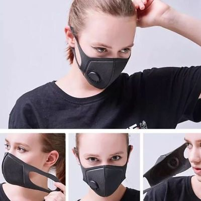 1Pc Air Purifying Anti Dust Face Mask Cover Multi Layer Haze Mouth Muffle Filter