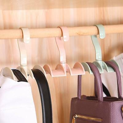 Rotated Storage Rack Bag Hanger Without Punch Clothes Plastic Tie Closet Rack A