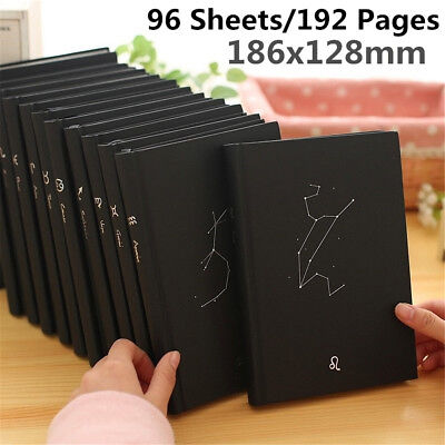 1X ''12 Constellation'' Journal Diary Books Hard Cover Lined Planner Notebook