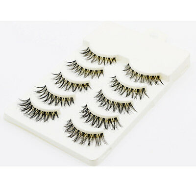 5 Pairs False Eyelashes Set Natural Makeup Long Thick Fake Eye Lashes Extension