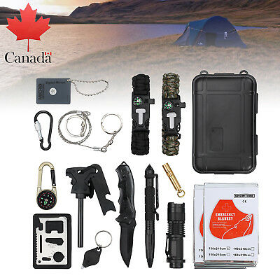 16X Emergency Survival Equipment Kit Outdoor Sports Tactical Hiking Camping Tool