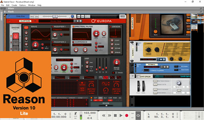 Propellerhead REASON 10 Lite-Legendary Virtual Rack & DAW! 2.5GB ableton REDUCED