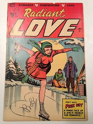 "Radiant Love #4 - Classic ""Pick Up"" Story Negligee Panels Scarce GGA"