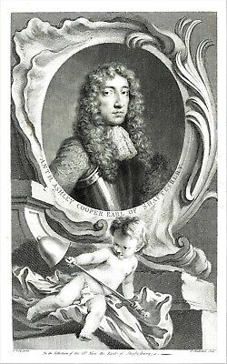 Anthony Ashley Cooper, Earl of Shaftesbury (Interregnum) By Jacob Houbraken