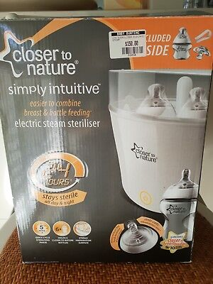 Closer to Nature Electric Steam Steriliser, bottles and feeding accessories