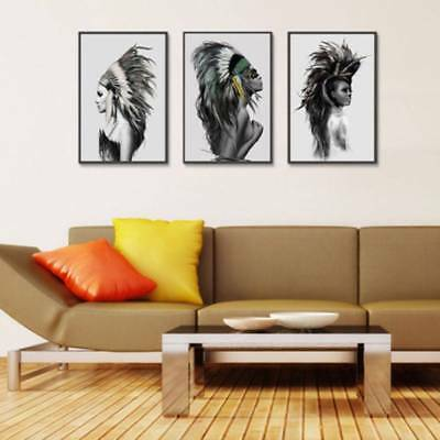 Abstract Modern Art Print Canvas Oil Painting Home Cafe Wall Poster Decor Craft