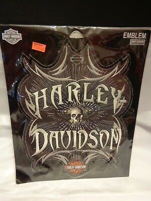 Harley-Davidson Emblem Patch Hypnotic Skull NOS Original Packaging