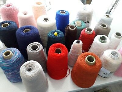 Joblot Machine knitting yarn on cone mixed yarn 6.930kg