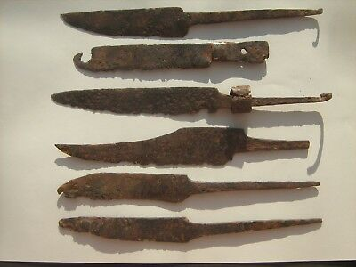 Ancient iron knives.Metal Detector Find