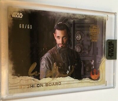 Star Wars Archives Signature Series Autograph Card Riz Ahmed Signed Bodhi 68/68